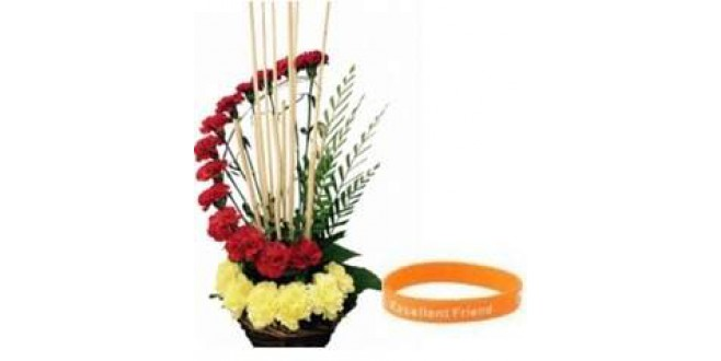 BAND WITH CARNATION