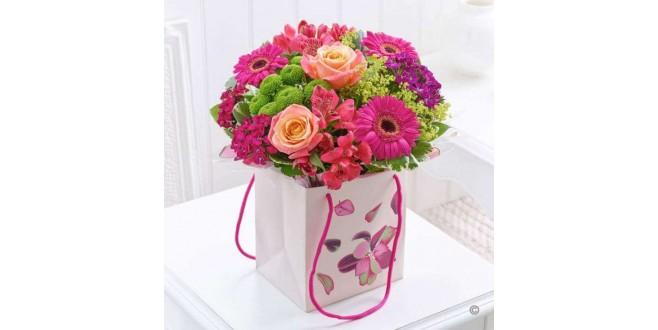 Gift Bag Flower Arrangements