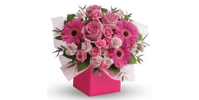 Pretty Pink Flower Box