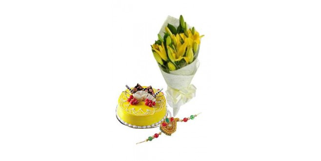 Rakhi with Floral Delight