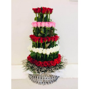 Royal Arrangement - 80 Roses